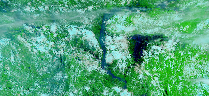 Flooding along the Brahmaputra River, Bangladesh on 25 July 2020 (VIIRS/NOAA-20)