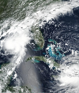 Tropical Storms Marco and Laura - VIIRS - 24 AUG 2020 - Feature Grid