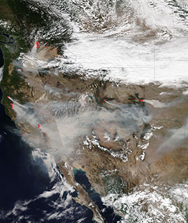 Fires across the Western USA on 7 September 2020 (NOAA-20/VIIRS) - Feature Grid