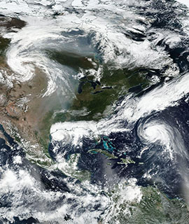Tropical Storms Beta and Teddy on 21 September 2020 (Suomi NPP/VIIRS) - Feature Grid