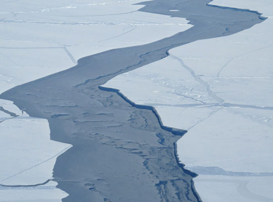 Photograph of a sea ice lead
