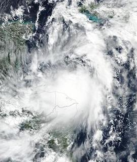 Tropical Storm Zeta on 25 October 2020 (Suomi NPP/VIIRS) - Feature Grid