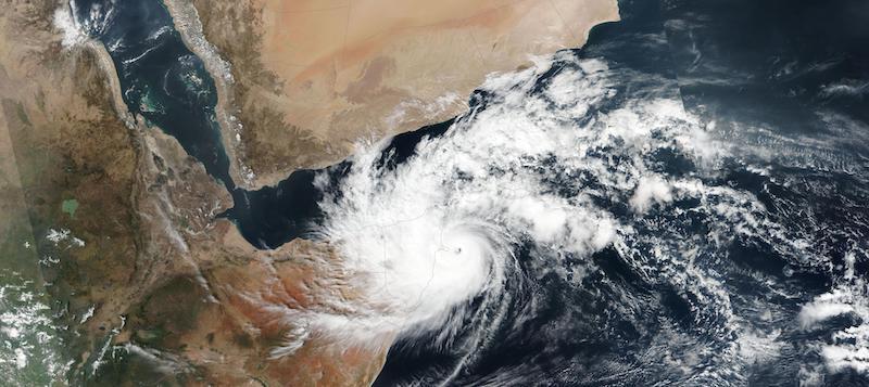 Tropical Cyclone Gati Makes Landfall in Somalia on 22 November 2020 (Suomi NPP/VIIRS)