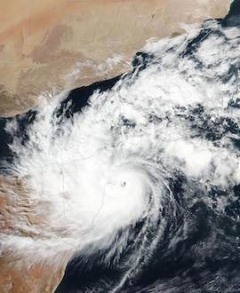 Tropical Cyclone Gati Makes Landfall in Somalia on 22 November 2020 (Suomi NPP/VIIRS) - Feature Grid