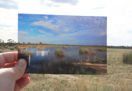 Flooding along the Gurra floodplain in Australia