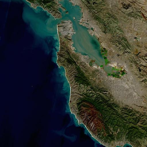 HLS image of San Francisco Bay, CA, USA