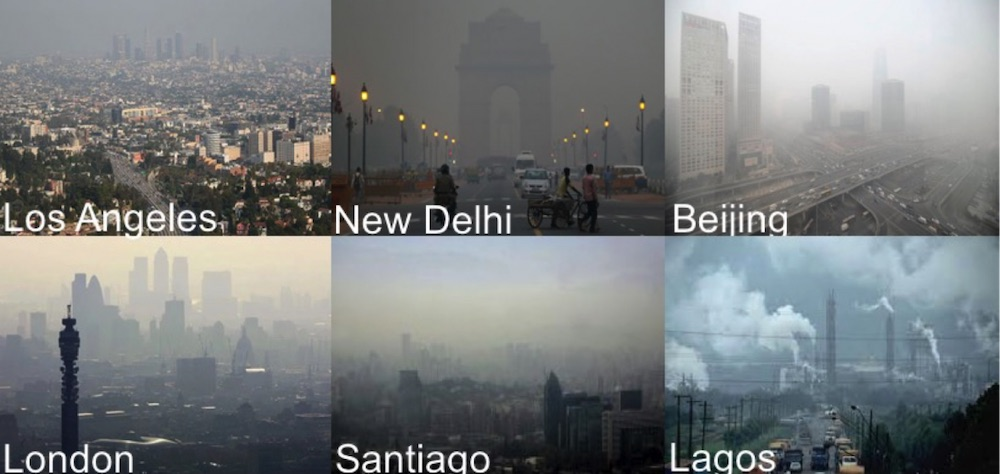 Air quality is a global issue as seen here in cities around the world . Credit: National Center for Atmospheric Research (NCAR)