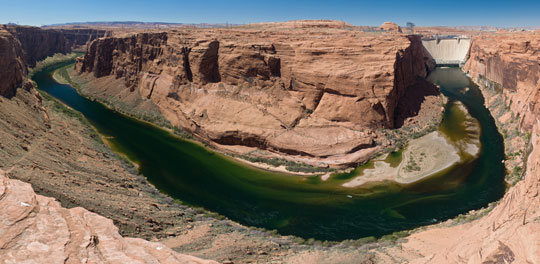 Photograph of the Colorado River just south of Glen Canyon Dam