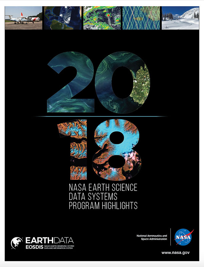 2018 Highlights Document cover with Earth observation images.