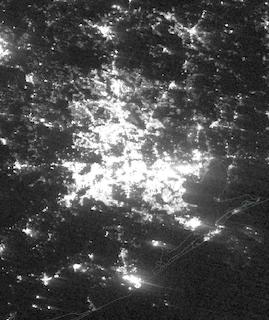 Power outages in Houston, Texas on 16 January 2021 (Suomi NPP/VIIRS) - Feature Grid
