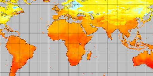 Global plot of MERRA-2 data in ArcGIS