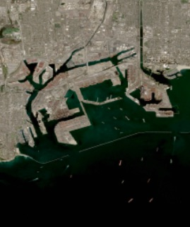 Ports of Los Angeles and Long Beach, California on 17 February 2021 (MSI/Sentinel 2A and B) - Feature Grid