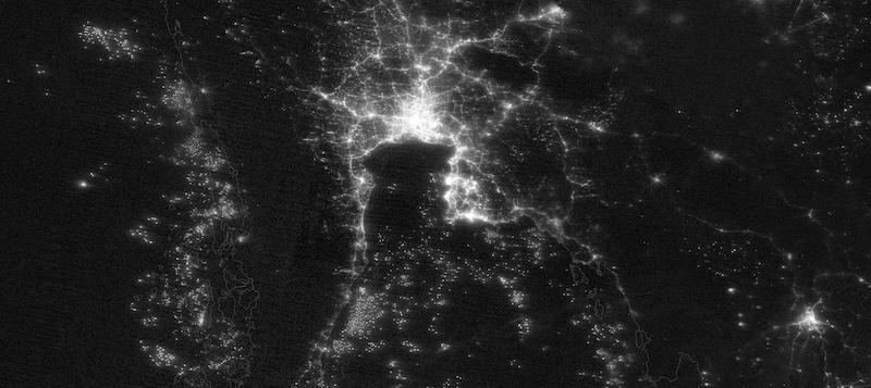 Bangkok, Thailand at Night on 7 March 2021 (Suomi NPP/VIIRS)