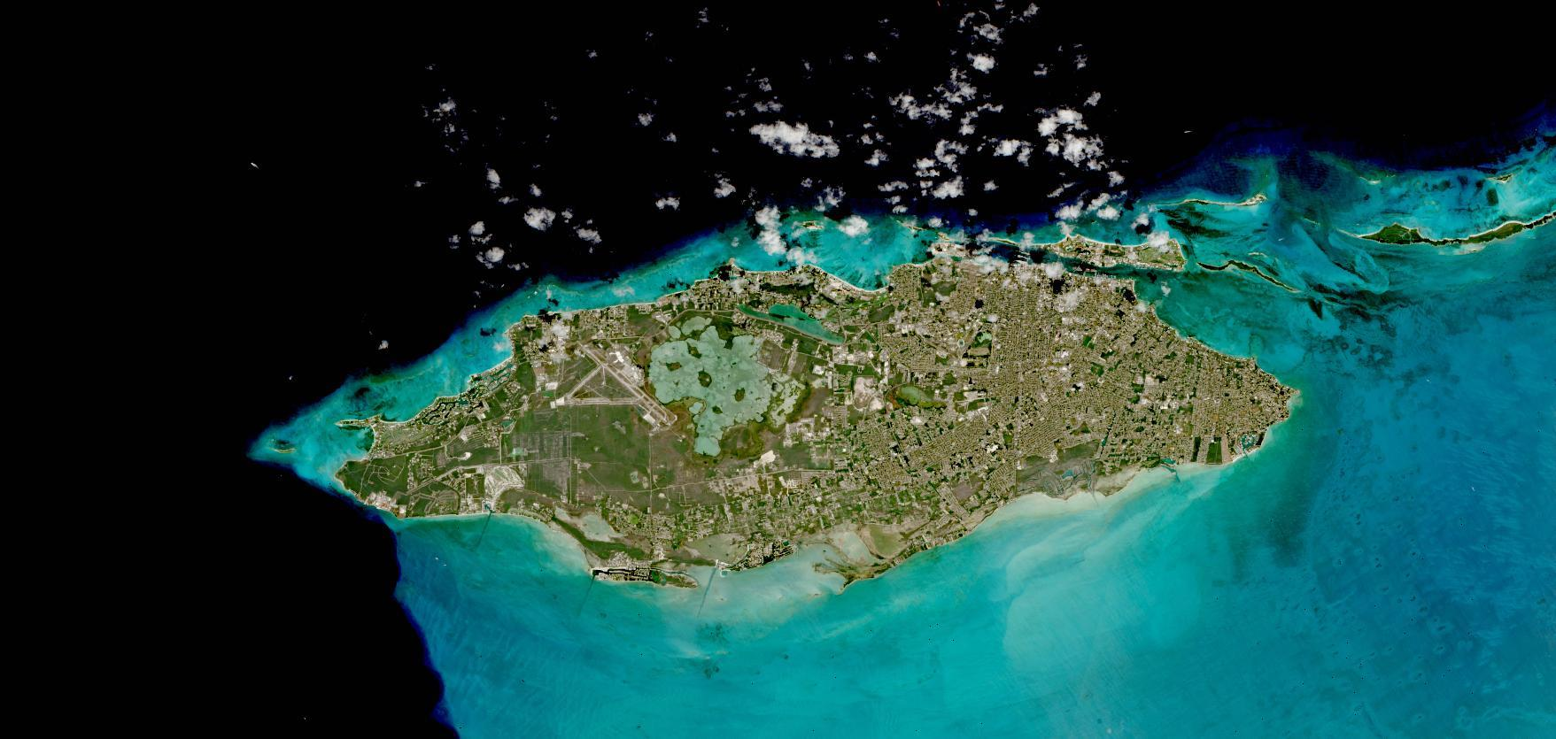 Nassau, New Providence Island, Bahamas on 18 March 2021 (Sentinel 2A & B/MSI)