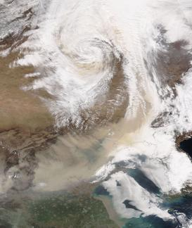 Dust Storm in China on 28 March 20201 (NOAA-20/VIIRS) - Feature Grid