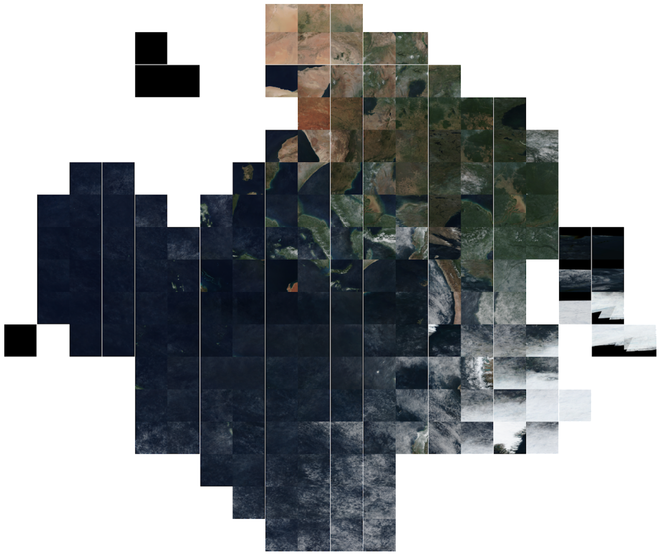 Mosaic of Worldview imagery tiles.
