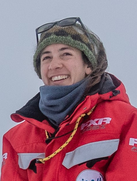A close up of Dr. Melinda Webster in the Arctic