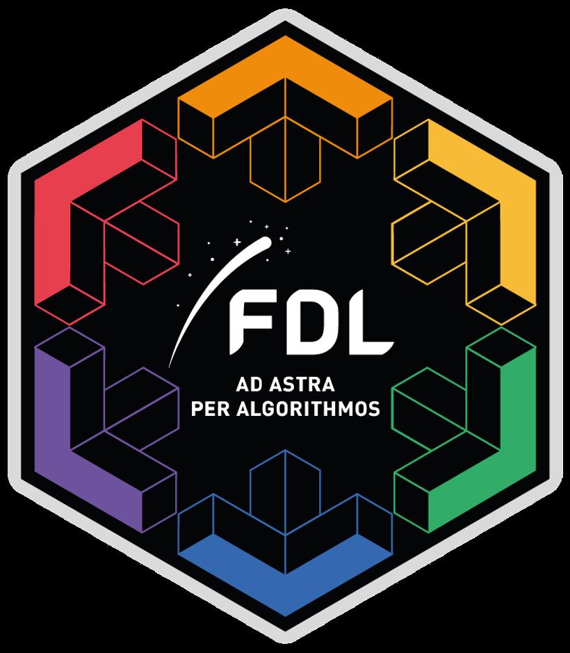 Six-sided FDL logo