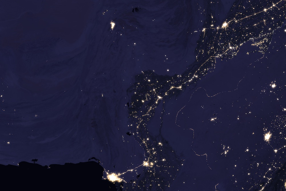 Nighttime lights data over the Indus River Valley