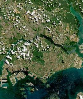 Singapore on 10 May 2021 (Sentinel-2A&B/MSI) - Feature Grid