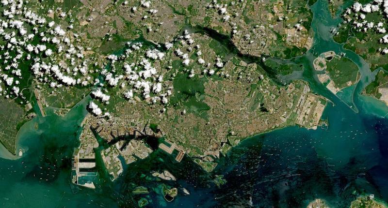Singapore on 10 May 2021 (Sentinel-2A&B/MSI)