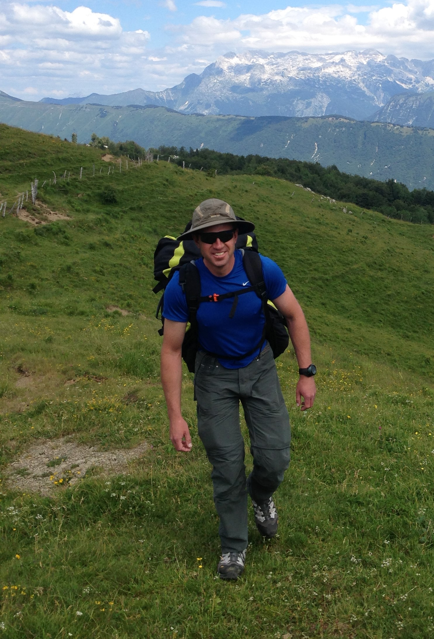 Dr. Steve D. Bowman, Geologic Hazards Program Manager with the Utah Geological Survey and member of the ASF DAAC User Working Group, enjoying the Julian Alps in Slovenia.