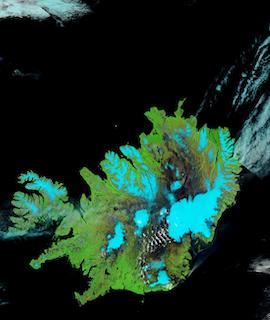 Iceland on 26 June 2021 (Aqua/MODIS) - Feature Grid