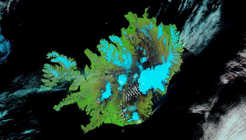 Iceland on 26 June 2021 (Aqua/MODIS)