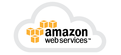 Stylized cloud drawing with words Amazon Web Services inside cloud
