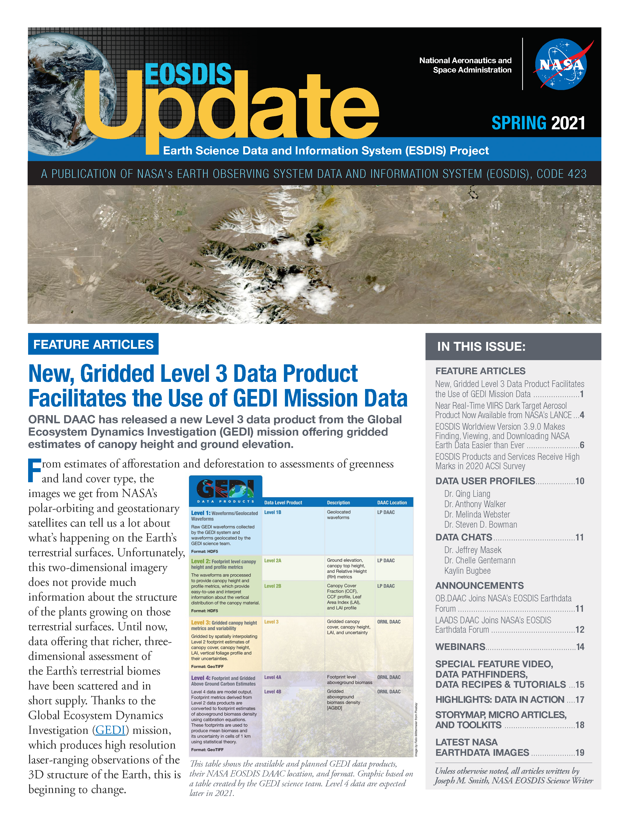 EOSDIS Quarterly Update- Spring 2021 Newsletter Feature Image