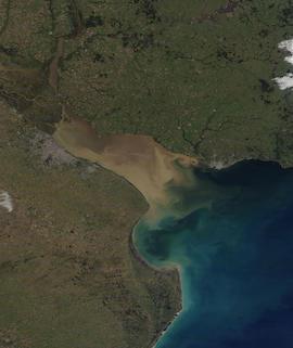 Rio de la Plata on 6 July 2021 (Terra/MODIS) - Feature Grid