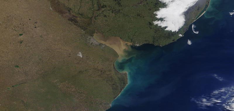 Rio de la Plata on 6 July 2021 (Terra/MODIS)