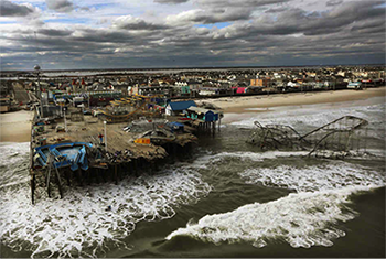 Fig. 1 A destroyed amusement park wrecked by Hurricane Sandy in Seaside Heights, New Jersey (courtesy of npr.org website). Click to view larger image.