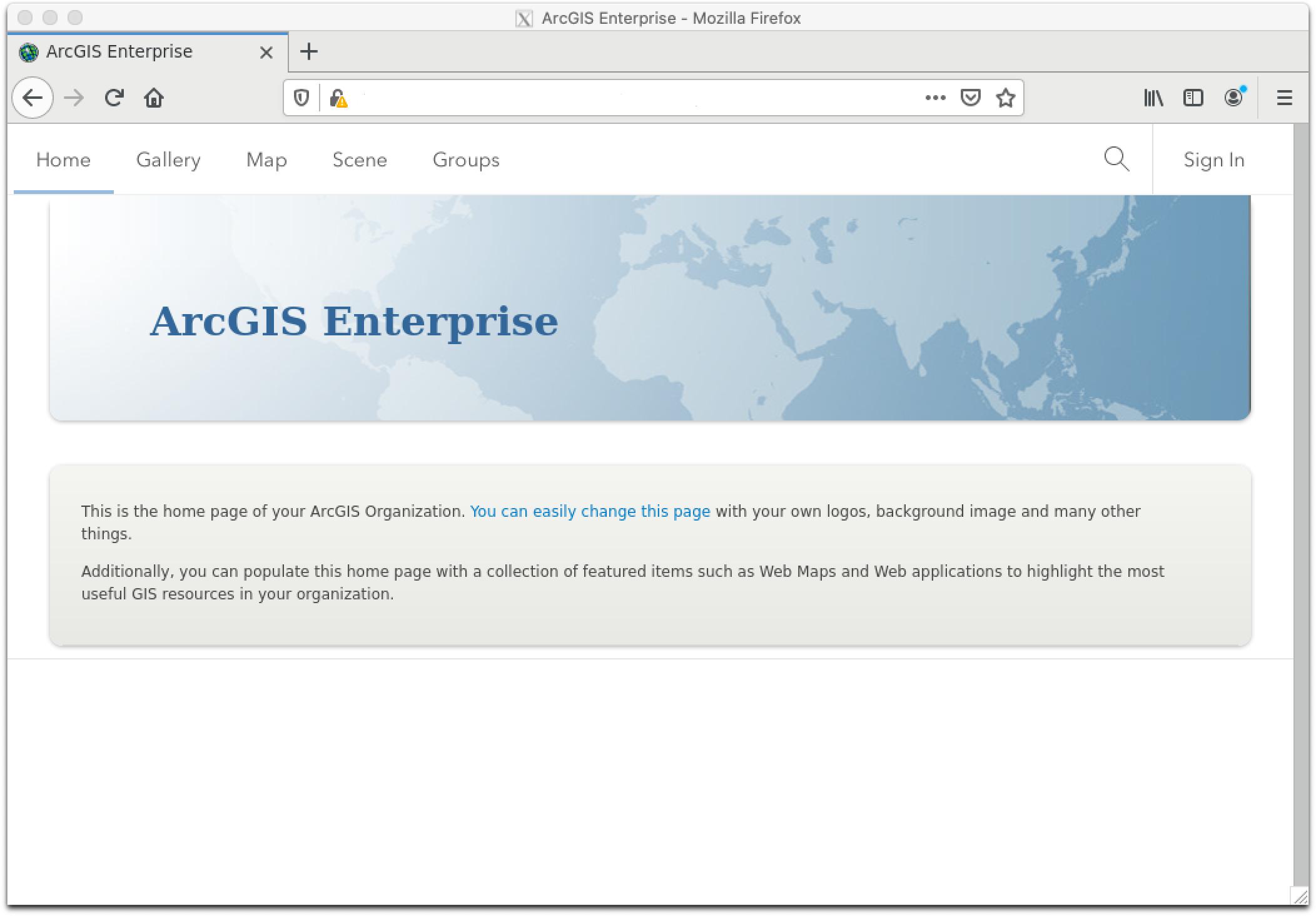 ArcGIS Portal Firefox