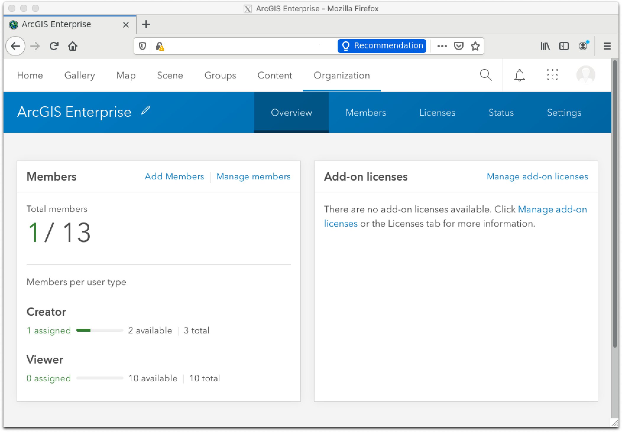ArcGIS Portal After Login