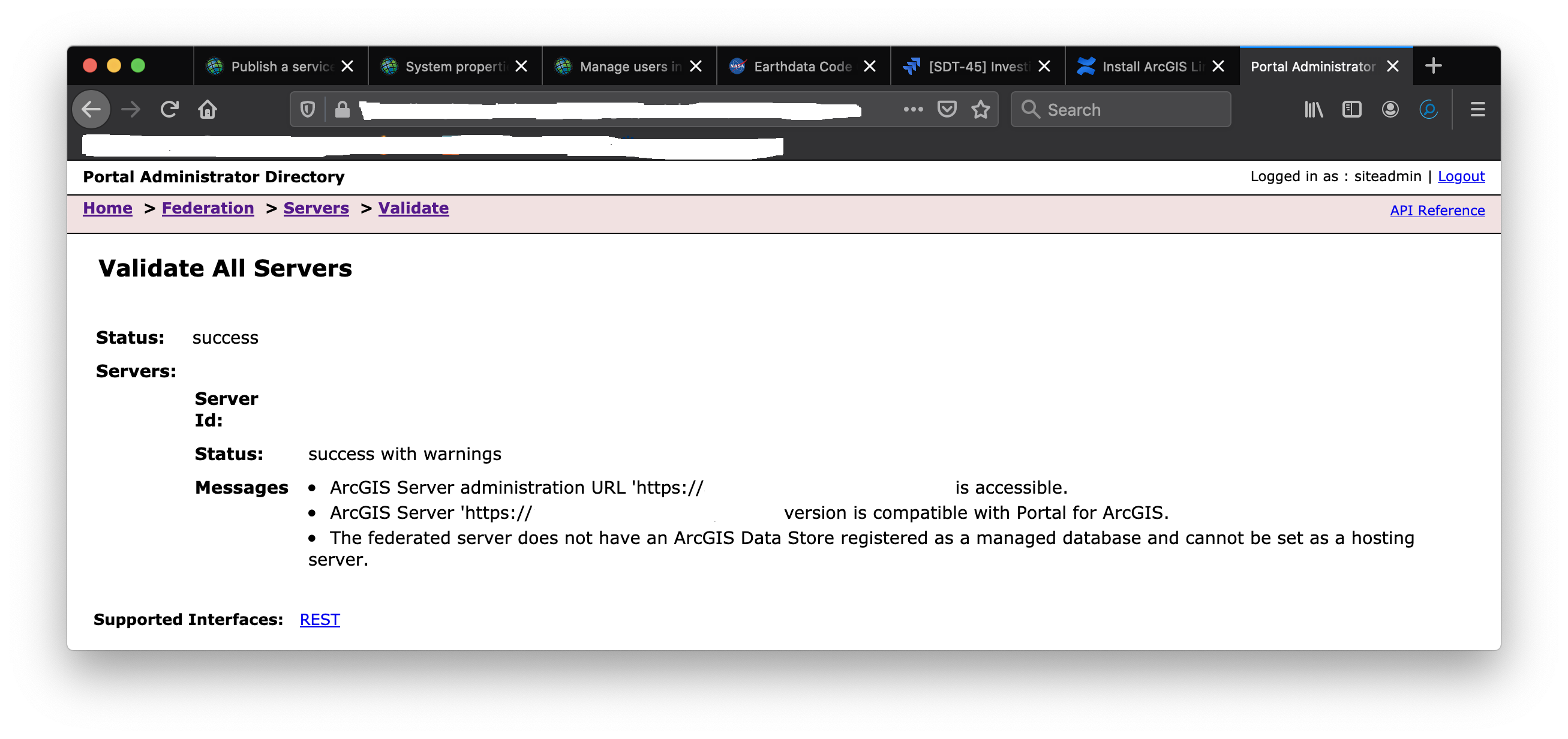 Federation Data Store Is Not Registered