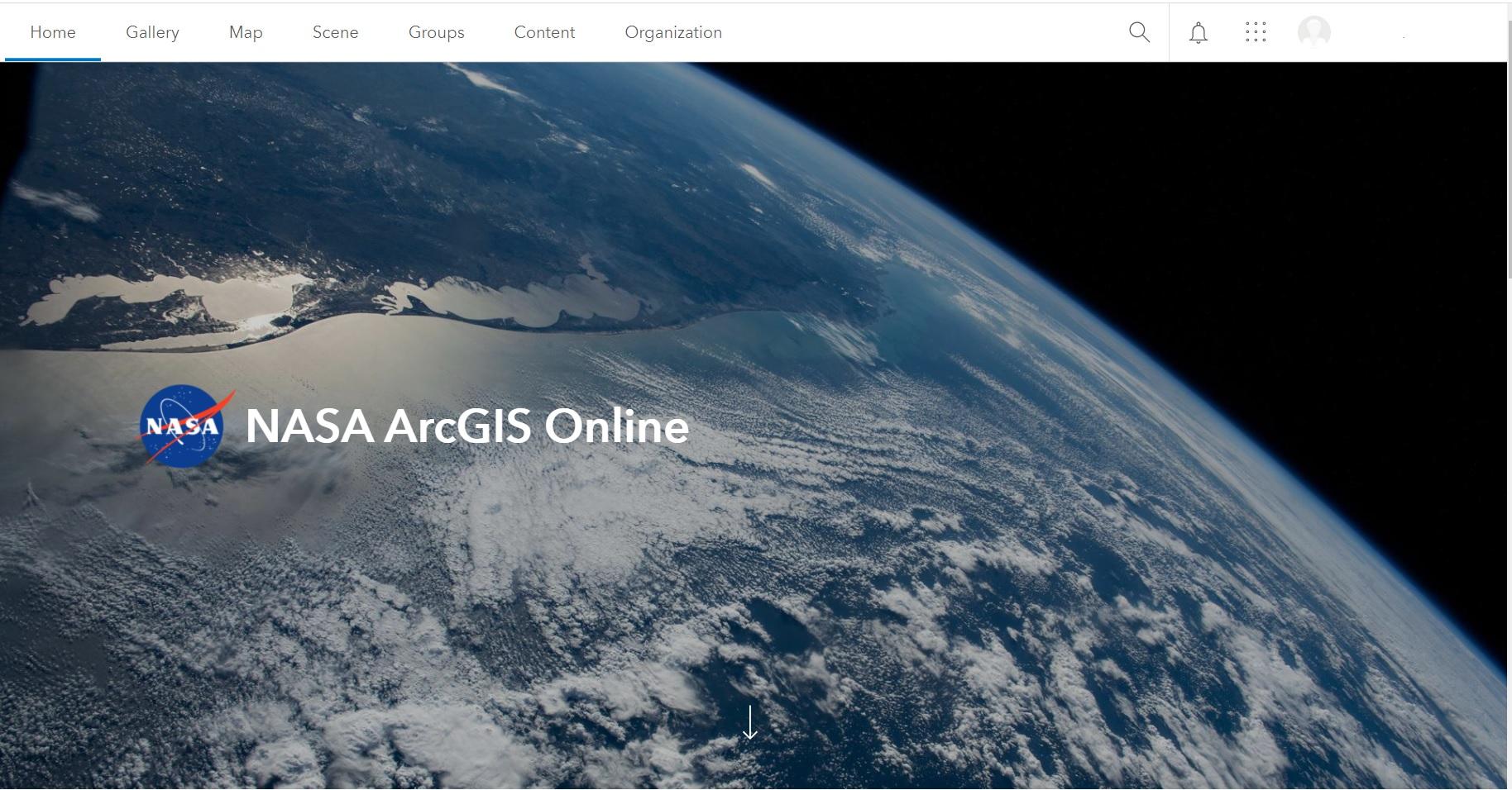 NASA AGOL Arc GIS online