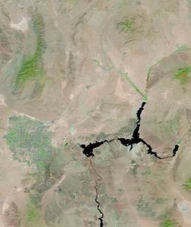 Lake Mead, Nevada on 4 September 2021 (Terra/MODIS) - Feature Grid