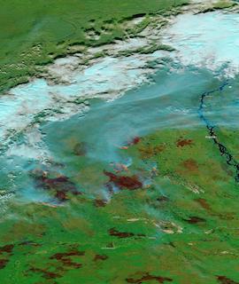 Fires in Sakha Republic, Russia on 12 September 2021 (Aqua/MODIS)