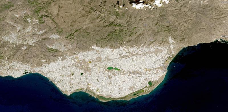 Poniente Almeriense, Almeria, Spain on 18 September 2021 (HLS: OLI/Landsat 8)