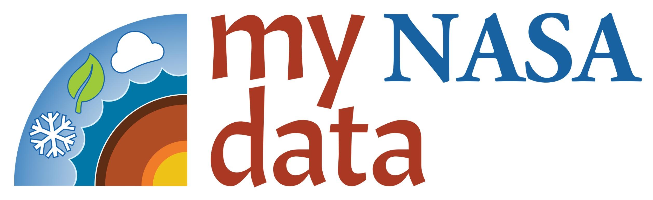 My NASA Data logo with rainbow and words My NASA Data