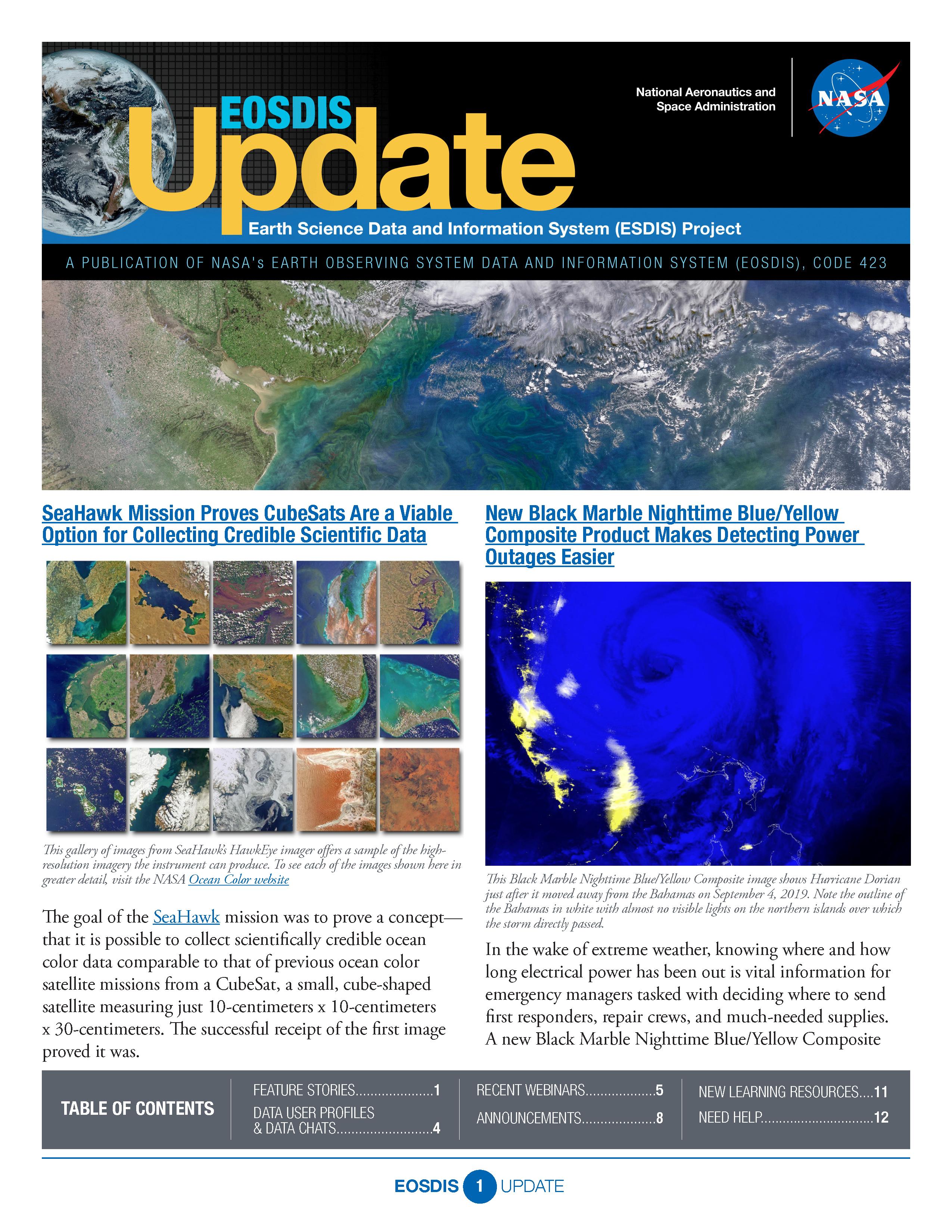 EOSDIS Quarterly Update- Summer 2020 Newsletter Cover Image