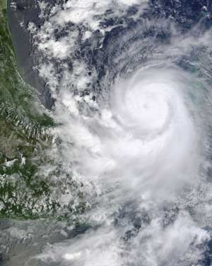 Satellite image of Hurricane Karl