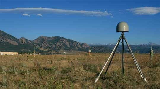 Photograph of a GPS ground receiver