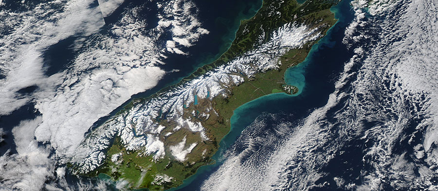 South Island, NZ 12 July 2015 Aqua