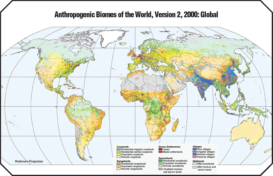 2000 Anthropogenic Biomes Web