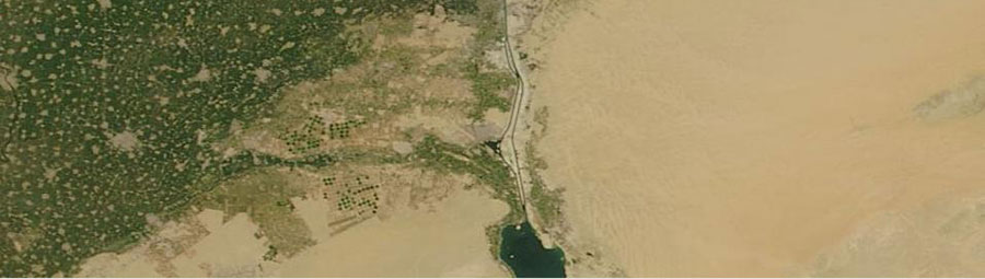 Expansion of the Suez Canal, Egypt - feature grid