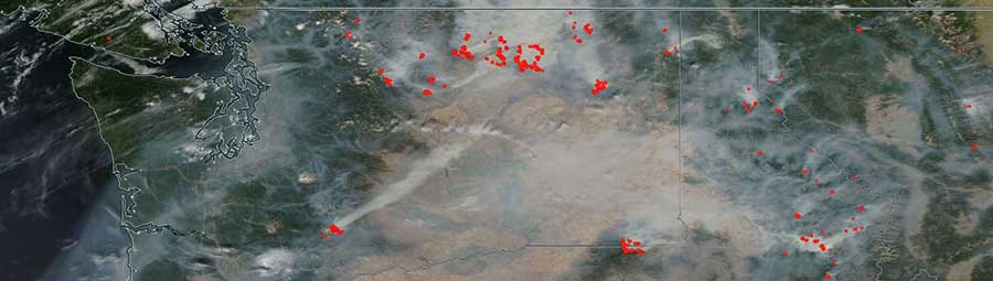 Fires in Washington State - feature grid