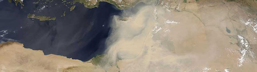 Dust Storm in the Middle East - feature page