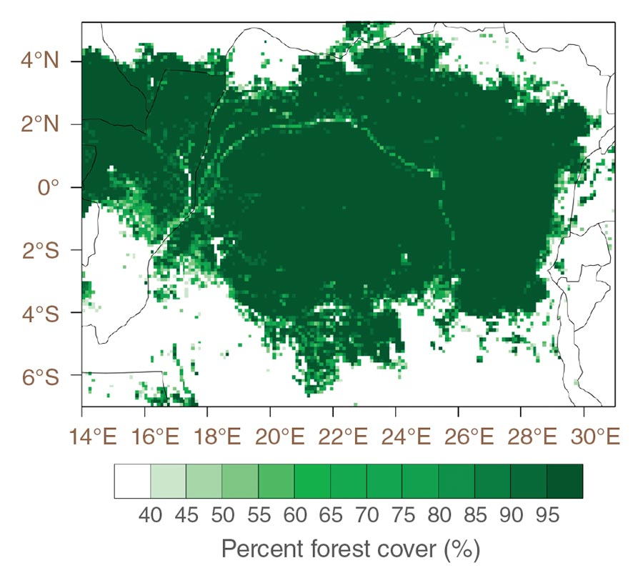 Data image showing Congo forest cover